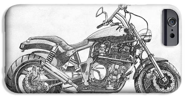 Suspension Drawings iPhone Cases - Little big bike iPhone Case by Stephen Brooks