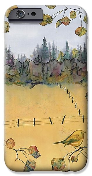 Little Bird and Fence iPhone Case by Carolyn Doe