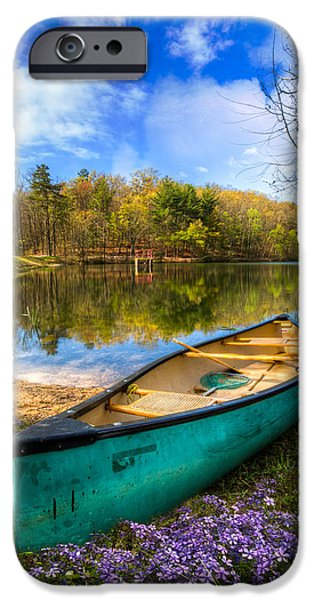 Kayak iPhone Cases - Little Bit of Heaven iPhone Case by Debra and Dave Vanderlaan