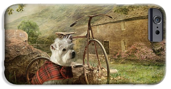 Terrier Digital iPhone Cases - Little Bobby iPhone Case by Trudi Simmonds
