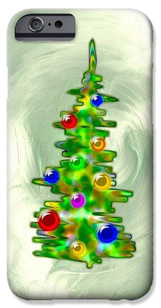 Little iPhone Cases - Little Christmas Tree iPhone Case by Anastasiya Malakhova