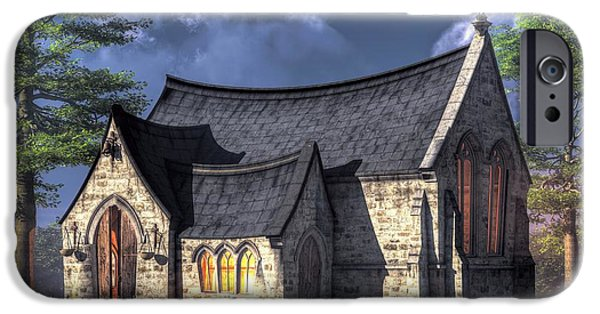 Christian Art iPhone Cases - Little Church iPhone Case by Christian Art