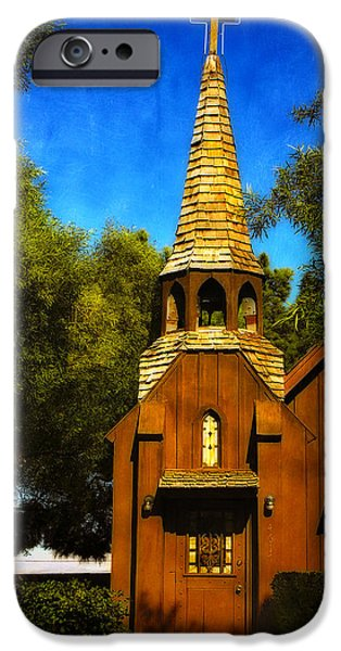 Little Church of the West iPhone Case by Julie Palencia