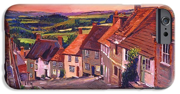Village iPhone Cases - Little Country Village England iPhone Case by David Lloyd Glover