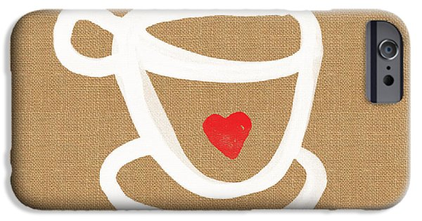 Pillow iPhone Cases - Little Cup of Love iPhone Case by Linda Woods