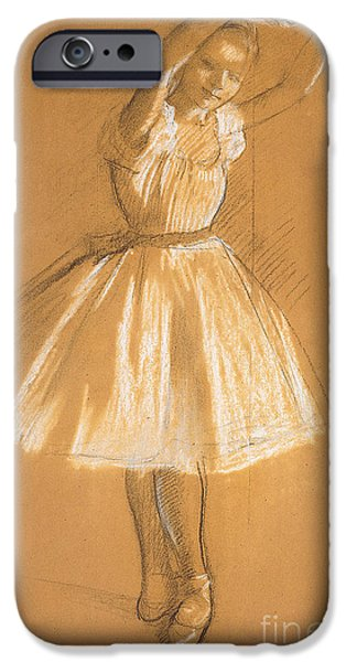 Female Drawings iPhone Cases - Little Dancer iPhone Case by Edgar Degas