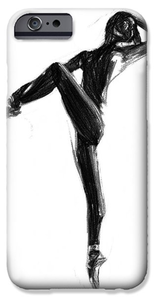 Ballerina Drawings iPhone Cases - Little Dancer iPhone Case by Stefan Kuhn