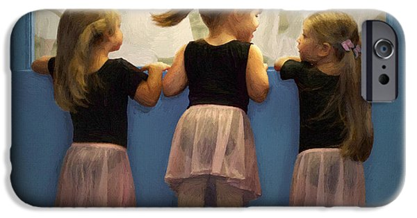 Ballet Dancers iPhone Cases - Little Dancing Dreamers iPhone Case by Doug Kreuger