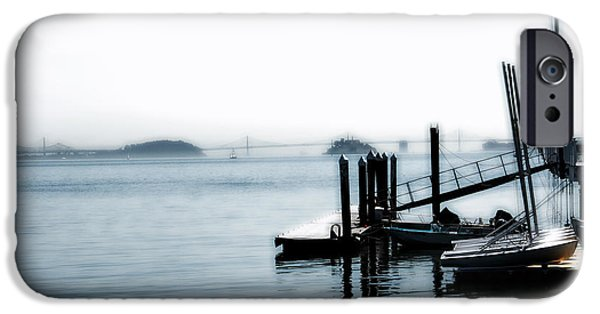 Sausalito Ca iPhone Cases - Little Dock on the Bay iPhone Case by Jan Garcia                   Snappenin Photography