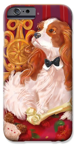 Dog iPhone Cases - Little Dogs - Cavalier King Charles Spaniel iPhone Case by Shari Warren