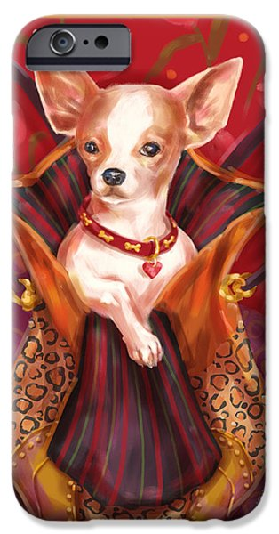 Dog iPhone Cases - Little Dogs- Chihuahua iPhone Case by Shari Warren