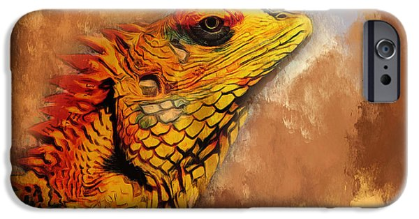 House Pet Digital Art iPhone Cases - Little Dragon iPhone Case by Yury Malkov