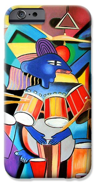 Little Digital Art iPhone Cases - Little Drummer Boy iPhone Case by Anthony Falbo