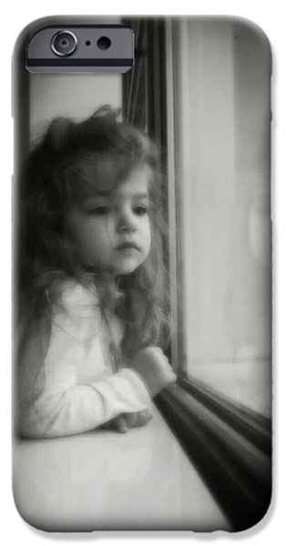 Recently Sold -  - Little iPhone Cases - Little Girl Dreaming and Waiting. iPhone Case by Paul Szakacs