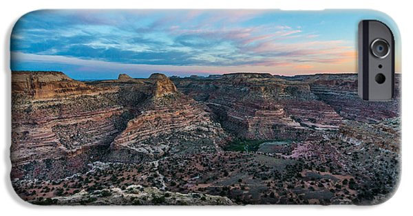 Grand Canyon iPhone Cases - Little Grand Canyon Sunset - Wedge Overlook - Utah iPhone Case by Gary Whitton