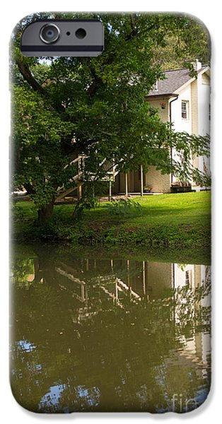 The White House Photographs iPhone Cases - Little House With Reflection iPhone Case by Rima Biswas