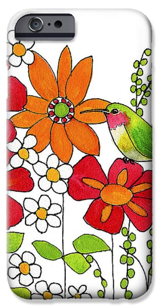 Hummingbird iPhone Cases - Little Hummingbird iPhone Case by Blenda Studio