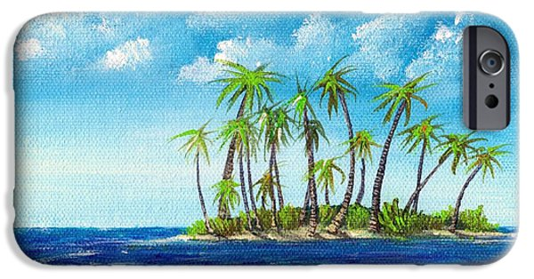 Small iPhone Cases - Little Island iPhone Case by Anastasiya Malakhova