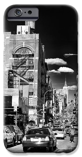 Interior Scene iPhone Cases - Little Italy Walking iPhone Case by John Rizzuto