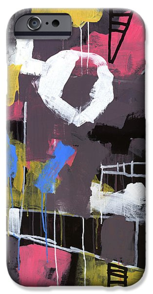Abstract Expressionist Paintings iPhone Cases - Little Lulu at the Circus iPhone Case by Douglas Simonson
