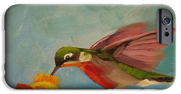 Cage Paintings iPhone Cases - Little Nipper iPhone Case by Kari Melen