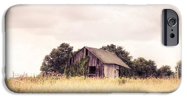 Old Barn Photo Photographs iPhone Cases - Little Old Barn in a Field - Landscape  iPhone Case by Gary Heller