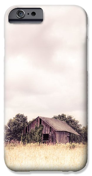 Old Barn iPhone Cases - Little Old Barn in the Field - Ontario County New York State iPhone Case by Gary Heller