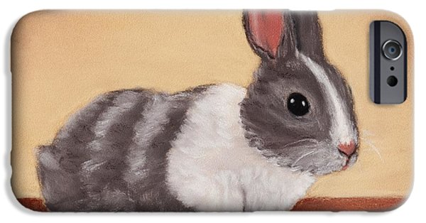 Animal Cards Pastels iPhone Cases - Little One iPhone Case by Anastasiya Malakhova