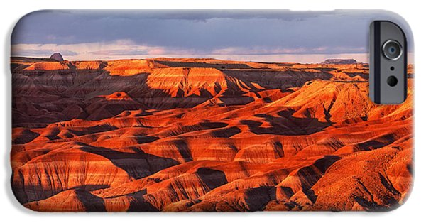 Watson Lake iPhone Cases - Little Painted Desert iPhone Case by Alex Mironyuk