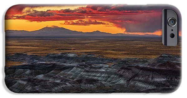 Prescott iPhone Cases - Little Painted Deserts Sunset iPhone Case by Alex Mironyuk