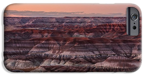 Prescott iPhone Cases - Little Painted Deserts Twilight iPhone Case by Alex Mironyuk