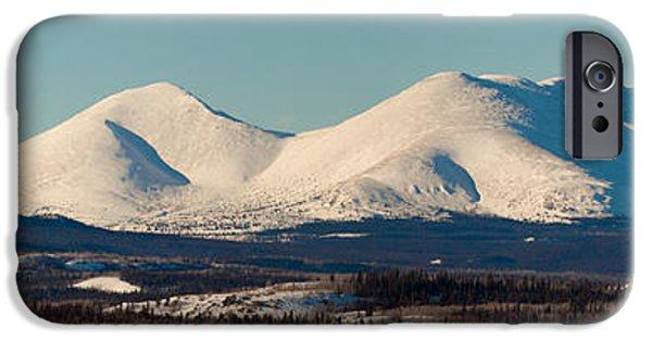 Wintertime iPhone Cases - Little Peak Yukon Territory Canada iPhone Case by Stephan Pietzko