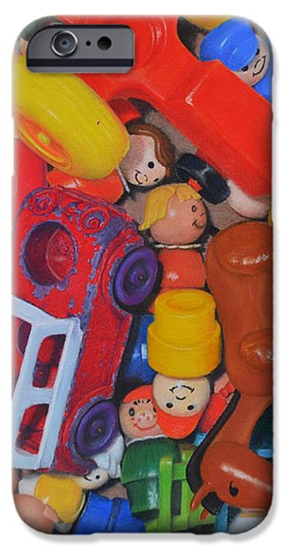 Little Peoples iPhone Case by Joanne Grant