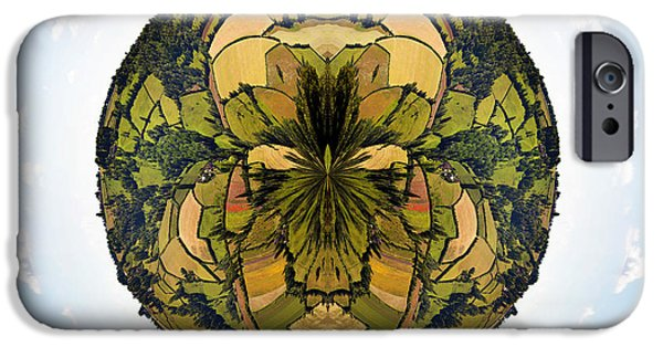 Agricultural iPhone Cases - Little planet Englich countryside iPhone Case by Jane Rix