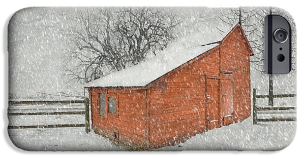 Storm iPhone Cases - Little Red Barn iPhone Case by Juli Scalzi