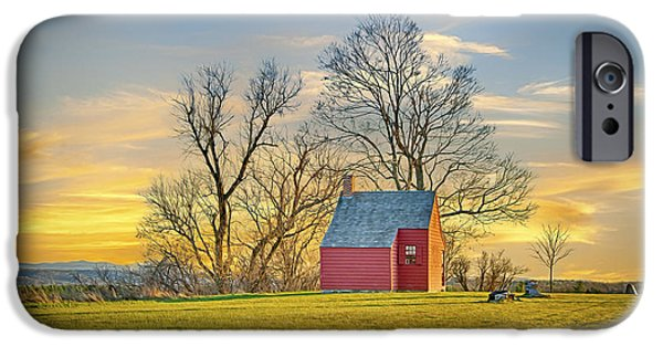 Gregory House iPhone Cases - Little Red Farm House iPhone Case by Gregory W Leary