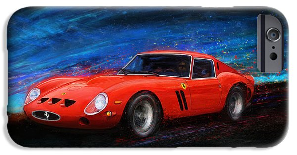 Ferrari Gto iPhone Cases - Little Red In The Hood iPhone Case by Alan Greene