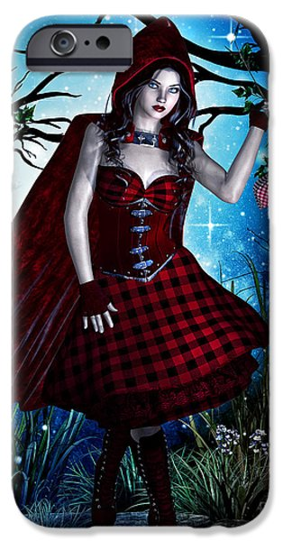 Basket iPhone Cases - Little Red Riding Hood iPhone Case by Alicia Hollinger