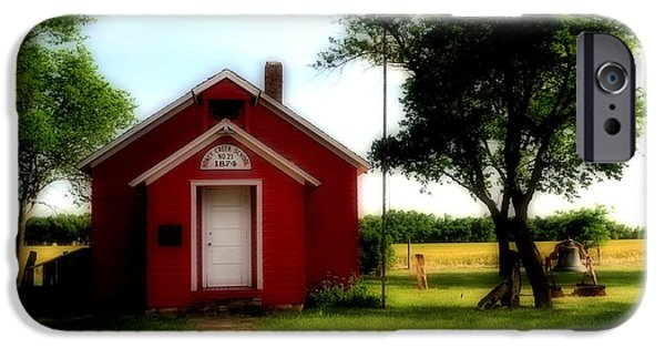 Red School House iPhone Cases - Little Red School House iPhone Case by Kathleen Struckle