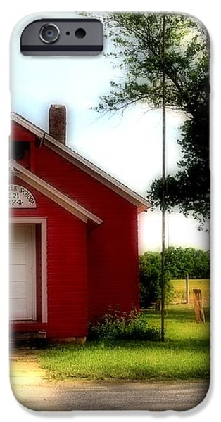 Little Red School House iPhone Case by Kathleen Struckle