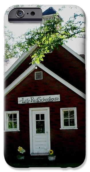 Little Red Schoolhouse iPhone Case by Gail Matthews