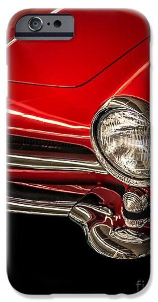 Slick iPhone Cases - Little red sports car iPhone Case by Edward Fielding