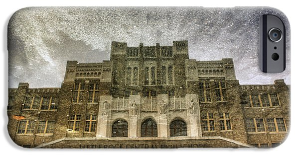 Asymmetrical iPhone Cases - Little Rock Central High Reflecting upon the Past iPhone Case by Jason Politte