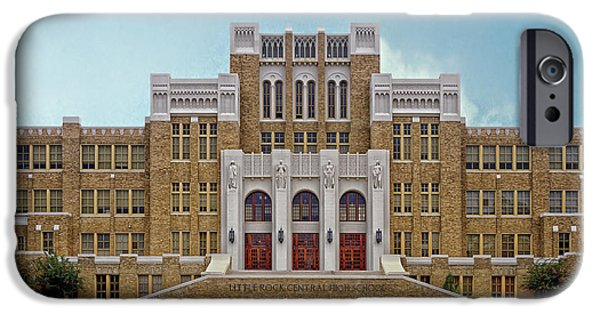 Arkansas iPhone Cases - Little Rock Central High School iPhone Case by Mountain Dreams