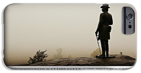 Lincoln iPhone Cases - Little Round Top -- Poster iPhone Case by Stephen Stookey