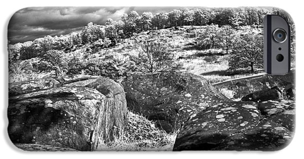 Devils Den iPhone Cases - Little Roundtop overlooking Devils Den iPhone Case by Paul W Faust -  Impressions of Light