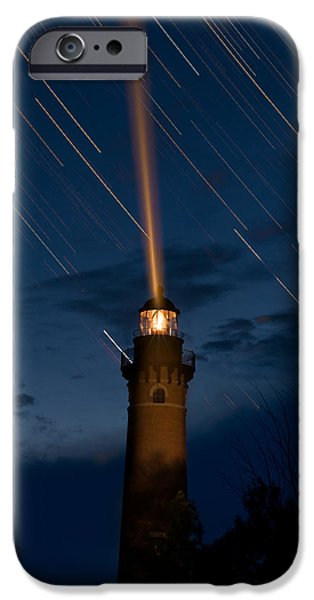 Lighthouse iPhone Cases - Little Sable Lighthouse iPhone Case by Steve Gadomski