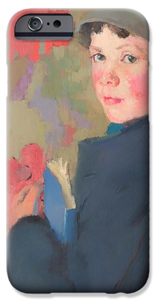 Schoolboy iPhone Cases - Little Schoolboy of Bonmahon iPhone Case by Edith Collier