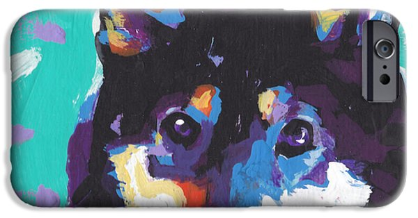 Fun Dog Art iPhone Cases - Little Shiba iPhone Case by Lea