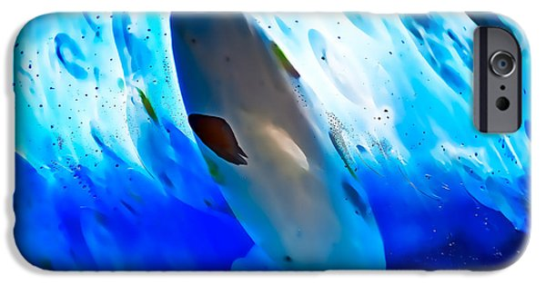 Shape Glass iPhone Cases - Little Swimmers iPhone Case by Omaste Witkowski